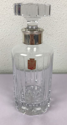 Glass decanter with silver mounts by the brand Fischer