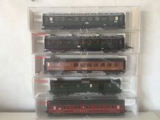 Fleischmann H0 - 5078/5080/5081/5082/5083 - Five carriages of the DRG