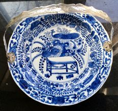 Porcelain saucer Kangxi with silver handle – China – First half 18th century