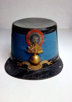 Shako of special military school, France, 1900.