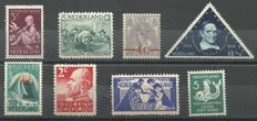 The Netherlands 1907/1938 - Selection of 8 flaws