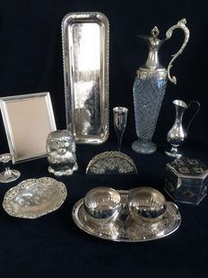 13 piece silver plated set