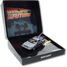 Back To The Future - Minichamps - Scale 1/43 - DeLorean DMC 12 time travel machine 1985