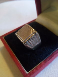 Men's 925 silver signet ring