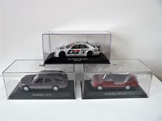Minichamps - Scale 1/43 - Lot with 3 models: Mercedes-Benz 320TE, Mercedes-Benz 300CE & Mercedes-Benz AMG C-class