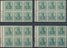 German Empire - Sheetlets from stamp booklets, with HAN numbers