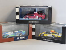 Minichamps - Scale 1/43 - Lot with 3 classic sport cars models: Alfa Romeo, Matra Simca & Renault Alpine
