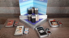 6 Silver Match Lighters with display - and 4 Betty Boop lighters - 21st century