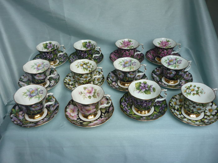 Royal Albert Provincial Flowers Bone China - 24 delig