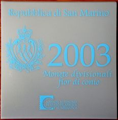 "San Marino – Year pack 2003, including 5 Euro, silver, ""3 Graces"""