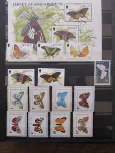 Theme - collection on the theme of butterflies of the world.