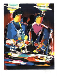 "Victor Hasch - the couple at the bar (""Le couple au bar"")"