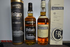 2 bottles - Benriach 10 years old & Cragganmore 12 years old
