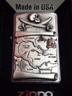 "Zippo limited edition ""2006 Treasur Map - High Relief"". NEW with Original box"