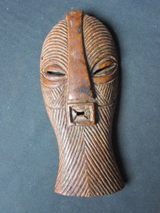 Large African mask in bone - SONGYE - D.R. Congo