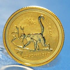 "Australia - 5 dollars ""Year of the Money"" 2004 - gold"