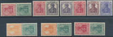 German Empire – Selection of combinations from stamp booklets