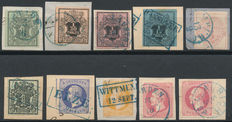 Hannover 1851/1864 – Selection on fragments with various cancellations