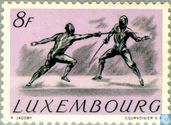 Timbres-poste - Luxembourg - Escrime