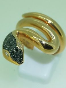 Diamond snake ring - ring size 55.