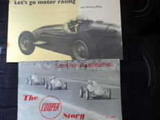 2 original Ferodo + Cooper race magazines - around 26 cm x 21 cm + around 22 x  15 cm - 10/1954 + 6/1950