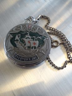 Molnija – Christopher Columbus Discovery Day pocket watch.