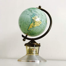 Old vintage globe including thermometer - Germany. Approx. 1960