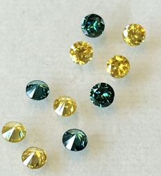 Lot of 10 natural diamonds ct. 0.80 No reserve price
