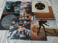 7 Personal Max Werner (some Rare) of Kayak Lp Albums of wich 6 signed, Poster and Used Drumstick