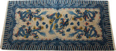Antique handmade Chinese rug size 155cm x 80cm 5 ft. x 2 ft.6in circa 1920