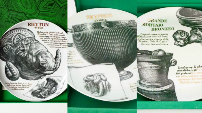 Fornasetti  - 18 plates for Martini & Rossi