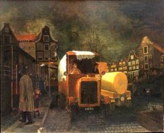 Franz Radziwill (1895-1983) (attributed to) - Amsterdam during the German occupation