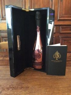 Armand de Brignac Ace of Spades Brut Rose, Champagne - 1 bottle in black lacquered box