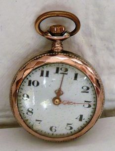 Silver Swiss women's pocket watch - approx. 1900