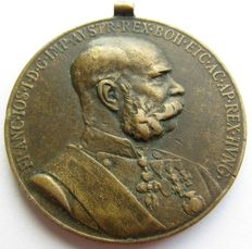 Commemorative Medal on the occasion of the 50th anniversary of FRANZ JOSEPH Reign. For the military