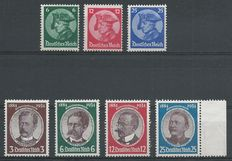German Empire 1933/1934 – Opening Reichstag and Persons – Michel 479/481 + 540y/543y