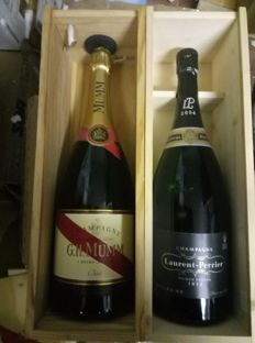 G.H.Mumm Cordon Rouge & 2004 Laurent Perrier millesime - 2 magnums (150cl) both in OWC