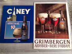 Cardboard Advertising sign - Grimbergen Abbey beer - 1988 + Ciney special 10 - from the 80s