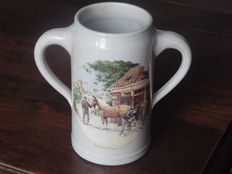 ROYAL SCHWABAP - Beautiful beer jug with two handles - stoneware - 1984 - The Netherlands
