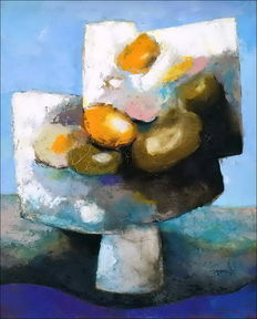 Claude Gaveau - Flowers' bouquet in a vase