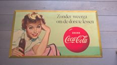 Large Coca cola billboard 1950/55 - features a tax stamp