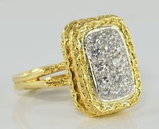 0,75 ct VVS2 white Diamond Ring in 18kt gold - *low reserve*
