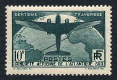 France 1936 – aerial crossing of the South Atlantic – Yvert No. 321.