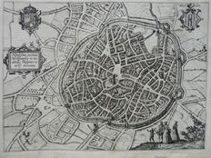 Belgium, Mechelen, Lier, France, Arras, Netherlands, Sluis; L. Guicciardini - 4 copper engravings - ca. 1620