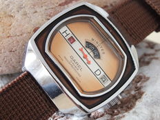 Garel Swiss - Men's Digital Jump Hour Watch - circa 1970s