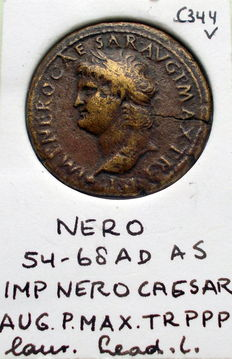 Roman Empire - Ashes of Nero, 54-68 AD - C 344 - 29 mm.