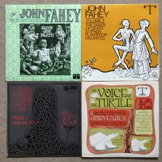 John Fahey - Lot of 4 fantastic albums - Transfiguration Blind Joe Death / The dance of Death / Voice of the turtle / Blind Loe Death