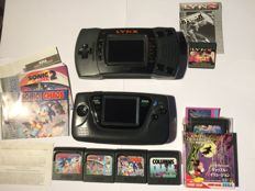 Sega game gear + Atari Lynx 2 + games and manuals