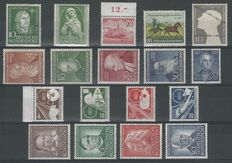 Federal Republic of Germany 1952/1953 – Selection – Michel 149, 151/152, 156160, 165/170, 173/176