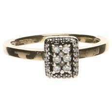 14 kt yellow gold ring set with 29 brilliant cut diamonds, 0.29 ct in total